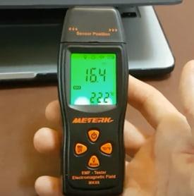 Meterk emf radiation detectors